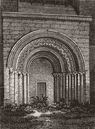 YORKS: Door Malton Church, antique print, 1816